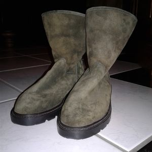 NWOT Blondo Two Tone Green Suede Boots Size 6.5